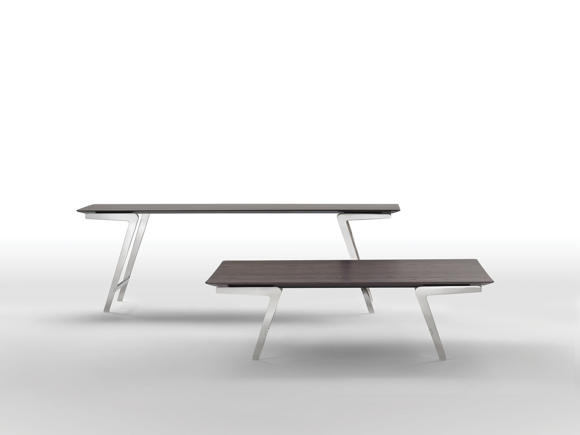 contemporary table  metal  marble  solid wood  soffio  flexform -  contemporary table  metal  marble  solid wood soffio flexform