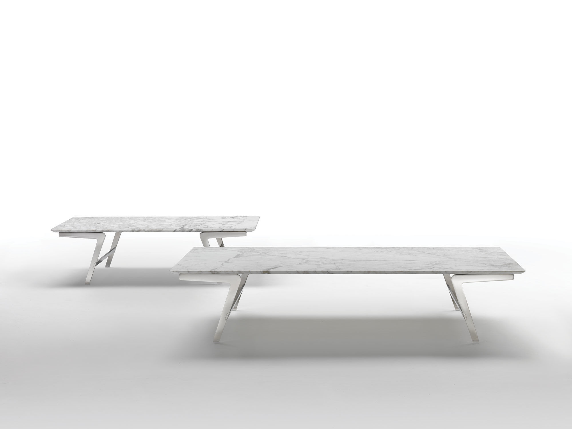 Contemporary Coffee Table / Metal / Marble / Solid Wood SOFFIO FLEXFORM ...