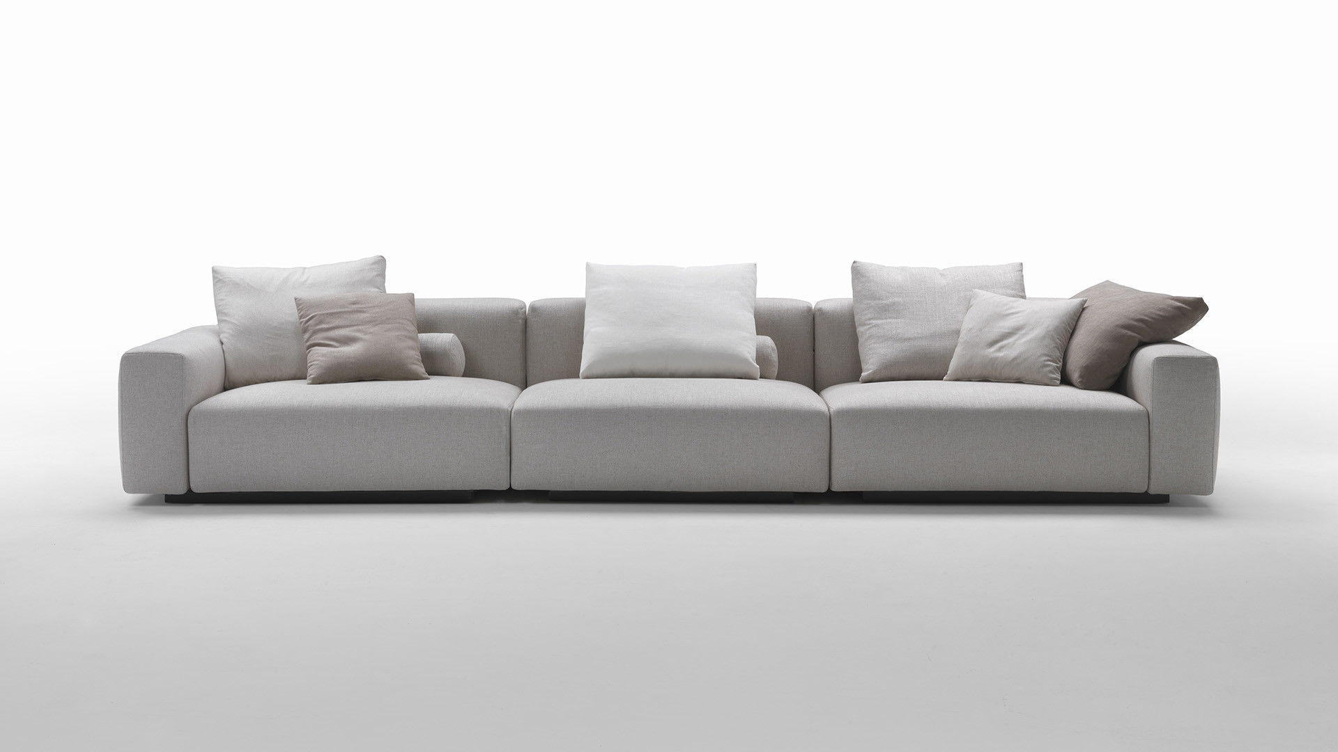 Modular Sofa Contemporary Fabric Leather Lario 88