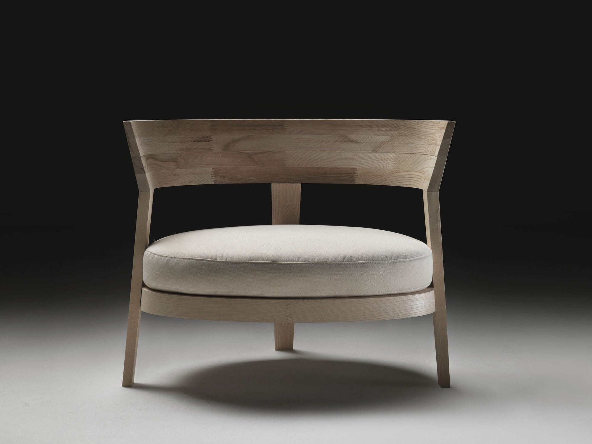 contemporary armchair  solid wood  fabric  leather  abbracci  -  contemporary armchair  solid wood  fabric  leather abbracci flexform