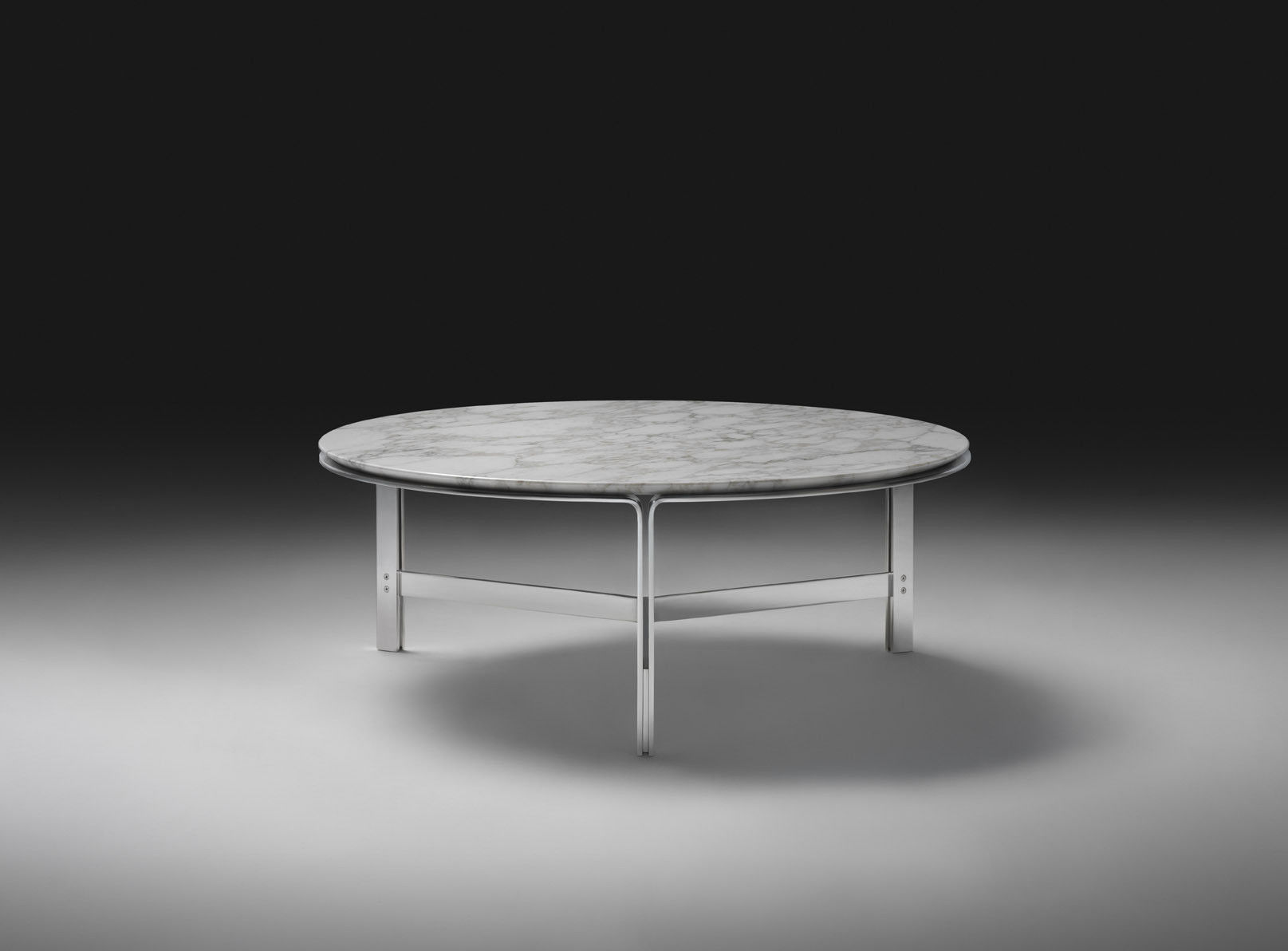 Contemporary coffee table metal marble solid wood CLARKE