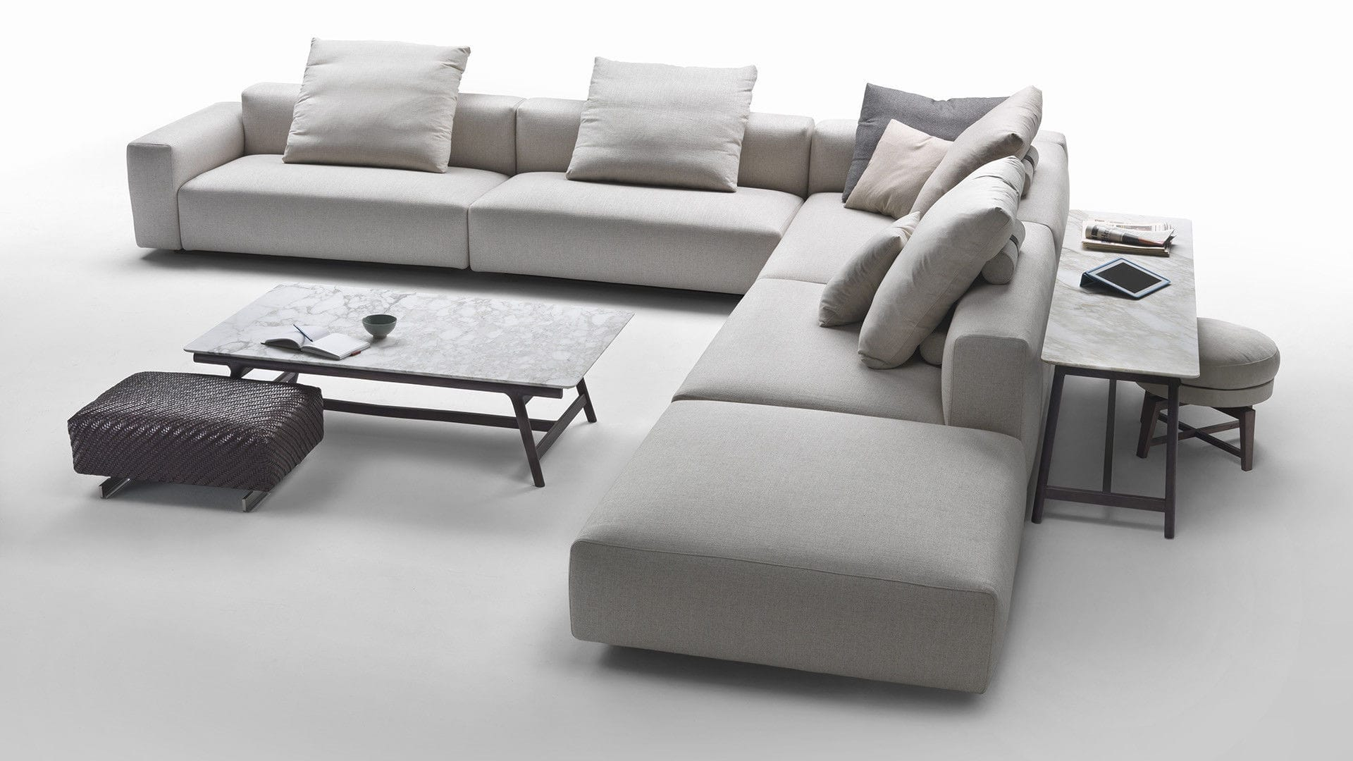Bon ... Modular Sofa / Contemporary / Fabric / Leather ...