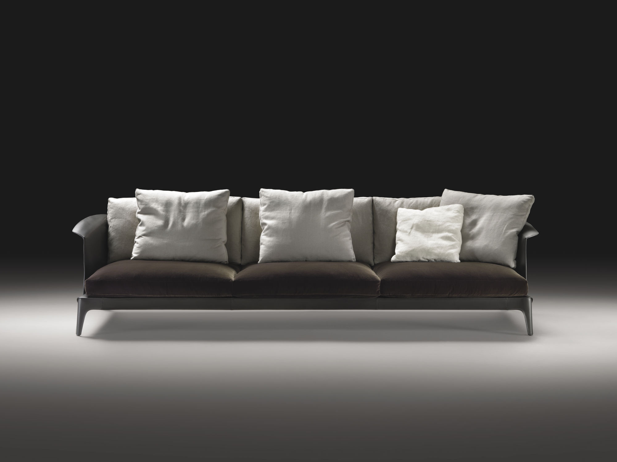Contemporary sofa leather fabric by Carlo Colombo ISABEL