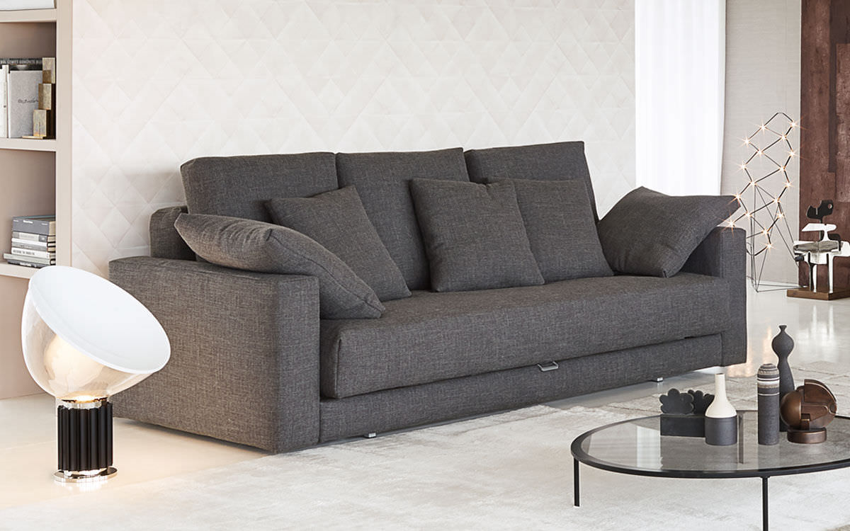 Sofa Bed Contemporary Fabric 3 Seater