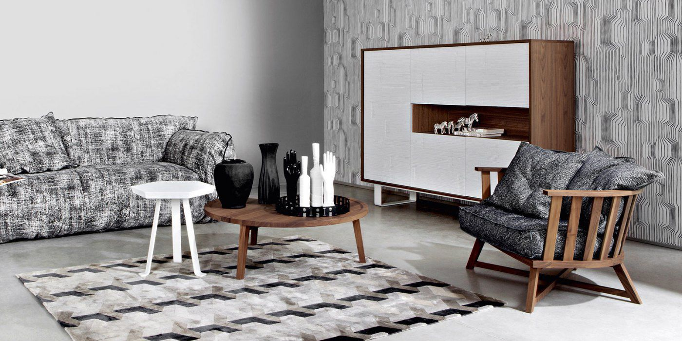 ... Contemporary Lounge Chair / Oak / Walnut / American Walnut GRAY 01 By  Paola Navone GERVASONI
