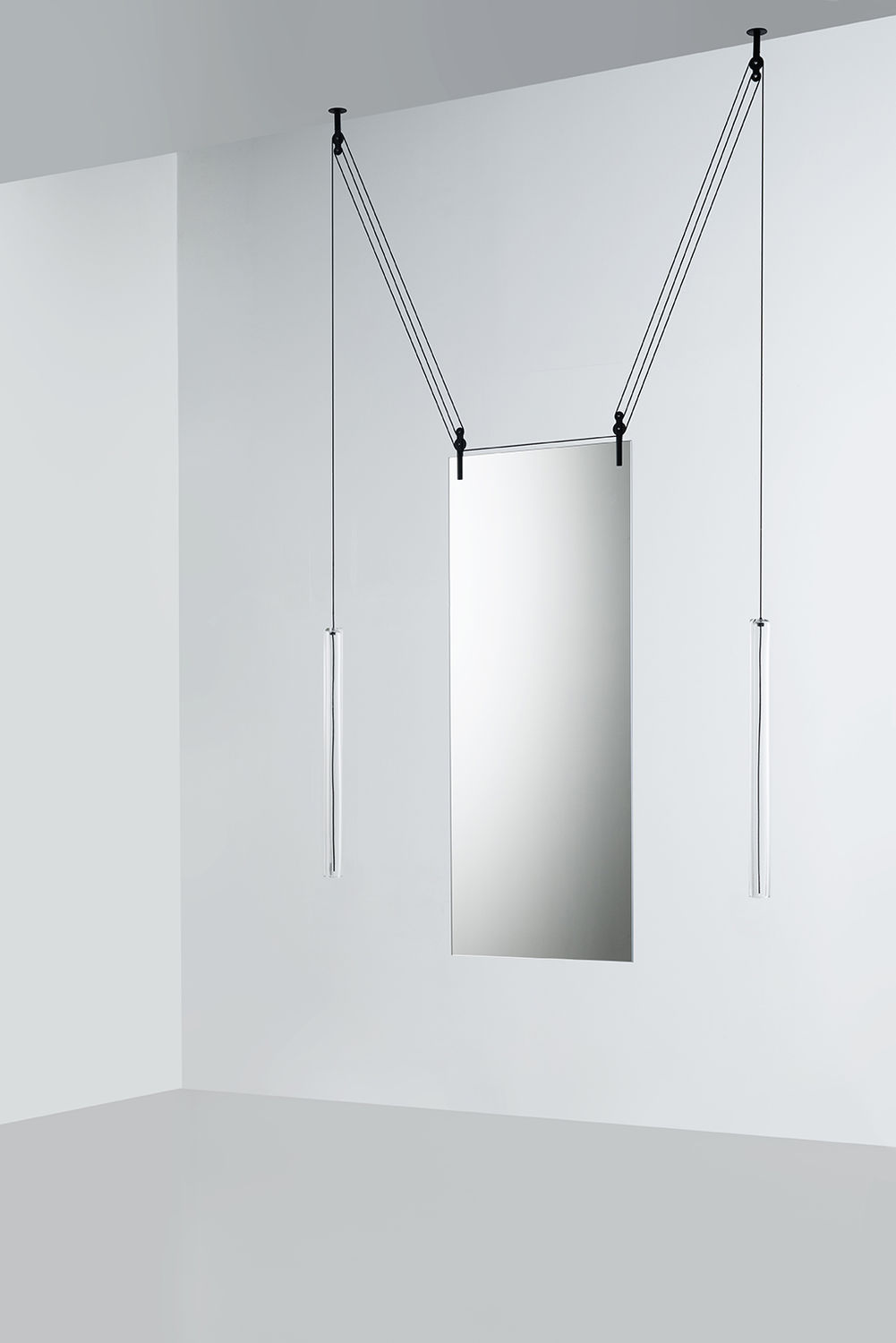 Ceiling Mounted Mirror Hanging Contemporary Rectangular Palanco