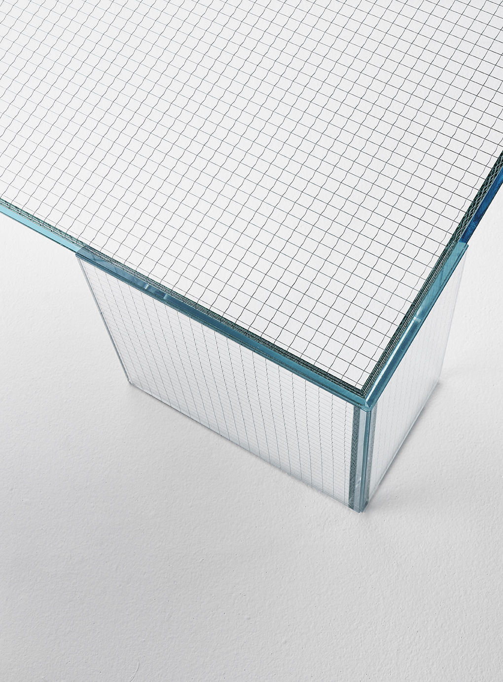 Contemporary coffee table / glass / rectangular / square - GRID