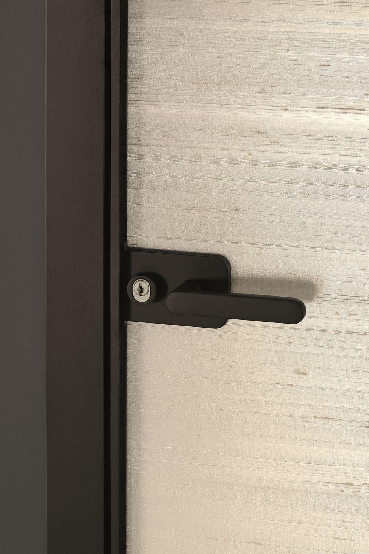 Indoor door / swing / glass / aluminum - SHERAZADE SWING FRAME by ...