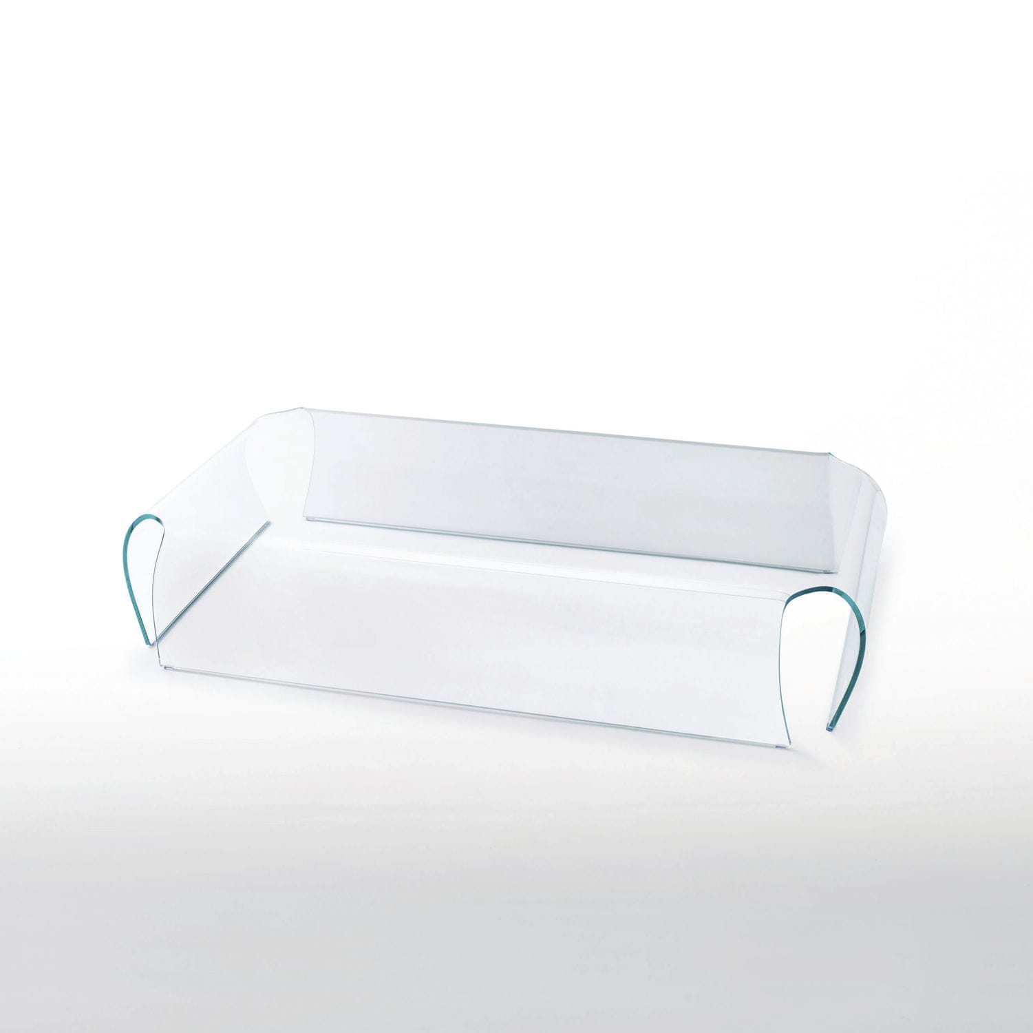 contemporary coffee table glass curved by naoto fukasawa