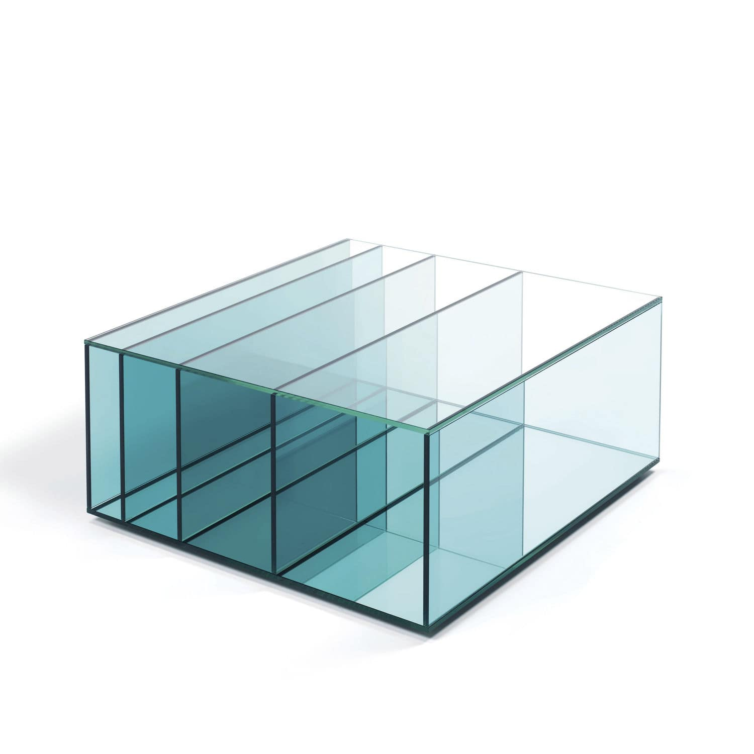 Contemporary coffee table glass rectangular by Studio Nendo