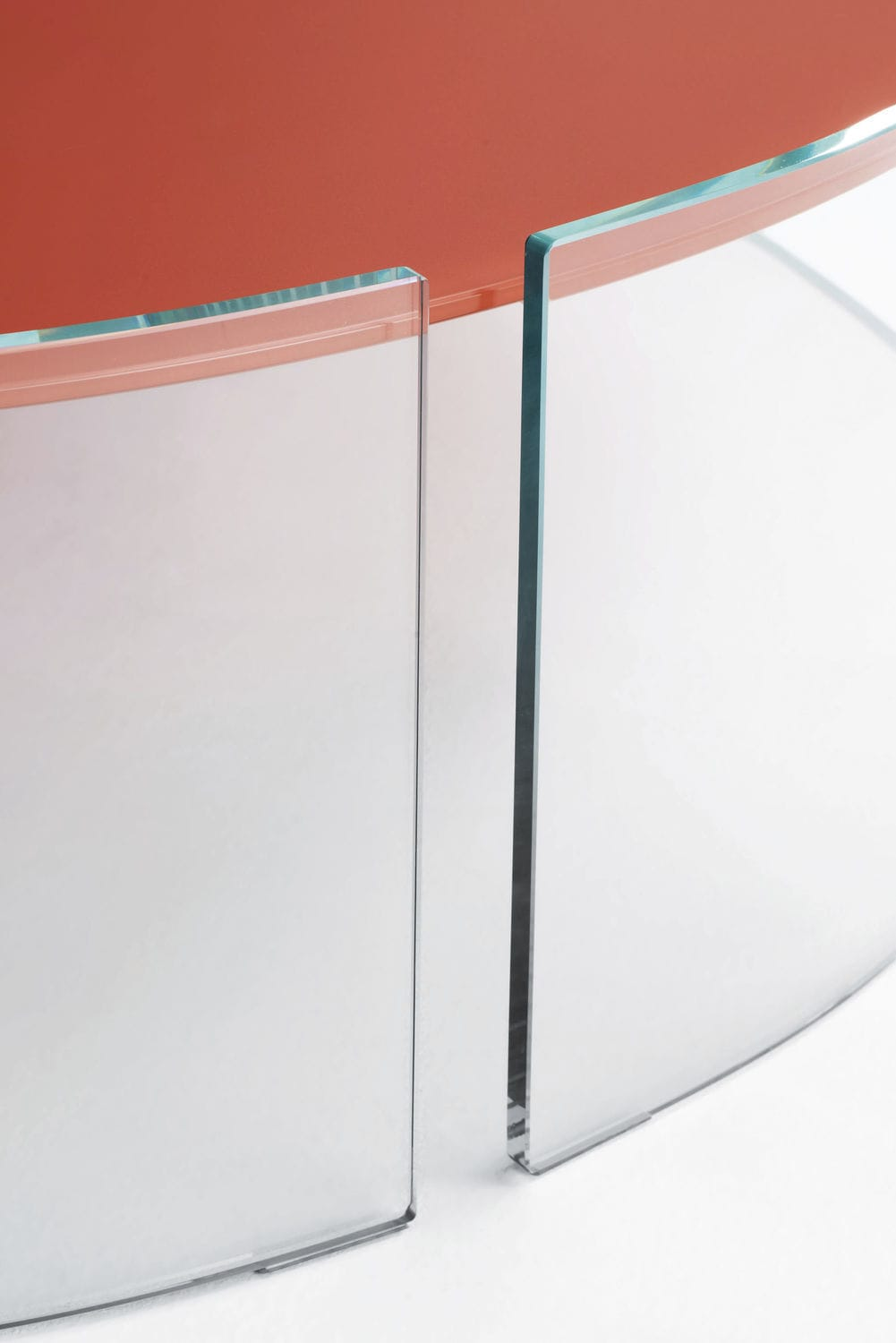 ... Contemporary Side Table / Glass / Round / Commercial SPLIT GLAS ITALIA