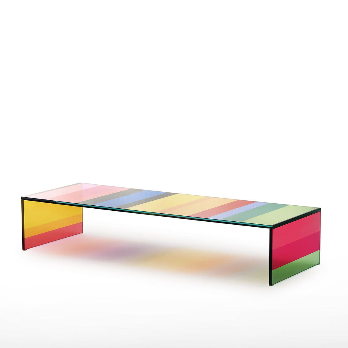 Contemporary coffee table glass rectangular by Piero Lissoni