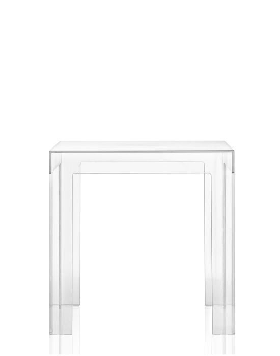 contemporary coffee table / polycarbonate / square / modular