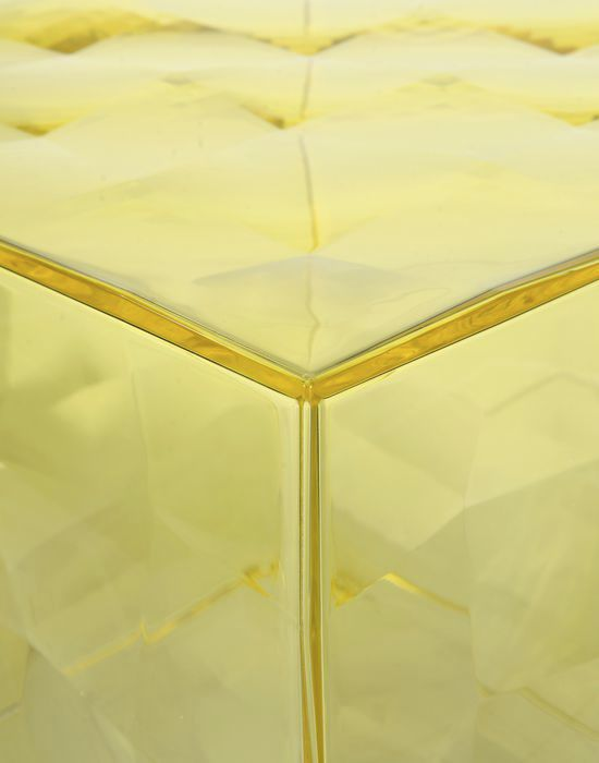 ... Contemporary Side Table / PMMA / Cube / With Storage Compartment ...