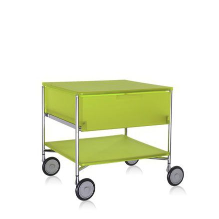 Contemporary Side Table / PMMA / Rectangular / With Drawer   MOBIL