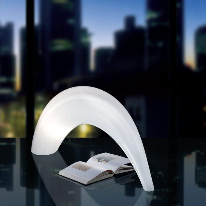 Table lamp / original design / blown glass / Murano glass ...