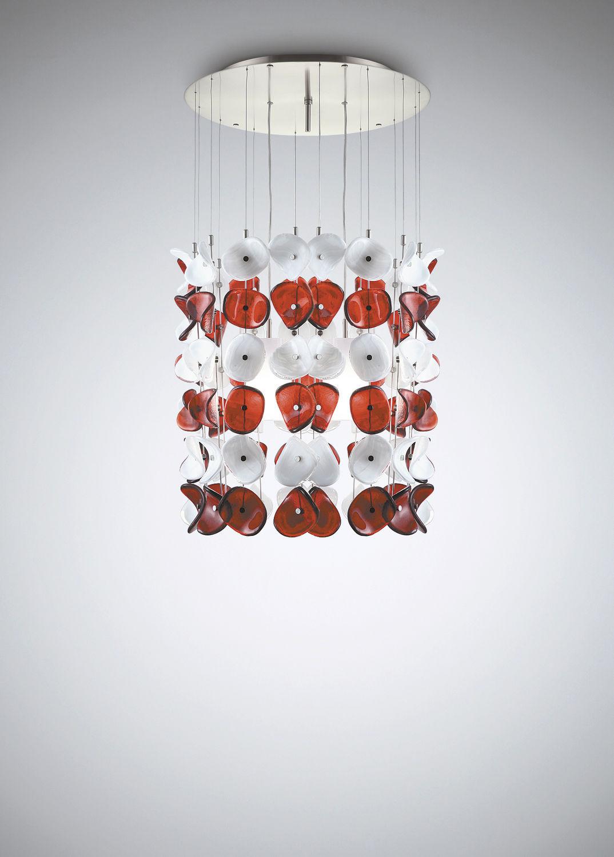 Pendant lamp / contemporary / metal / blown glass - MARIPOSA S - la ...