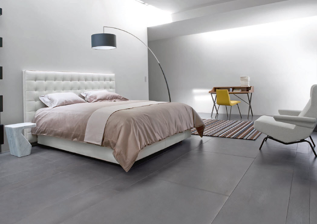 Double Bed Contemporary Upholstered With Headboard Nador - Maly-platform-bed-by-ligne-roset