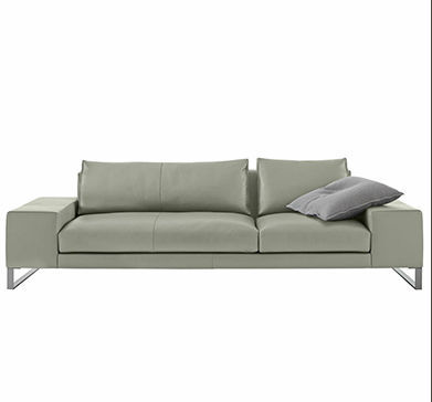Contemporary sofa / fabric / leather / by Didier Gomez - EXCLUSIF 2 ...