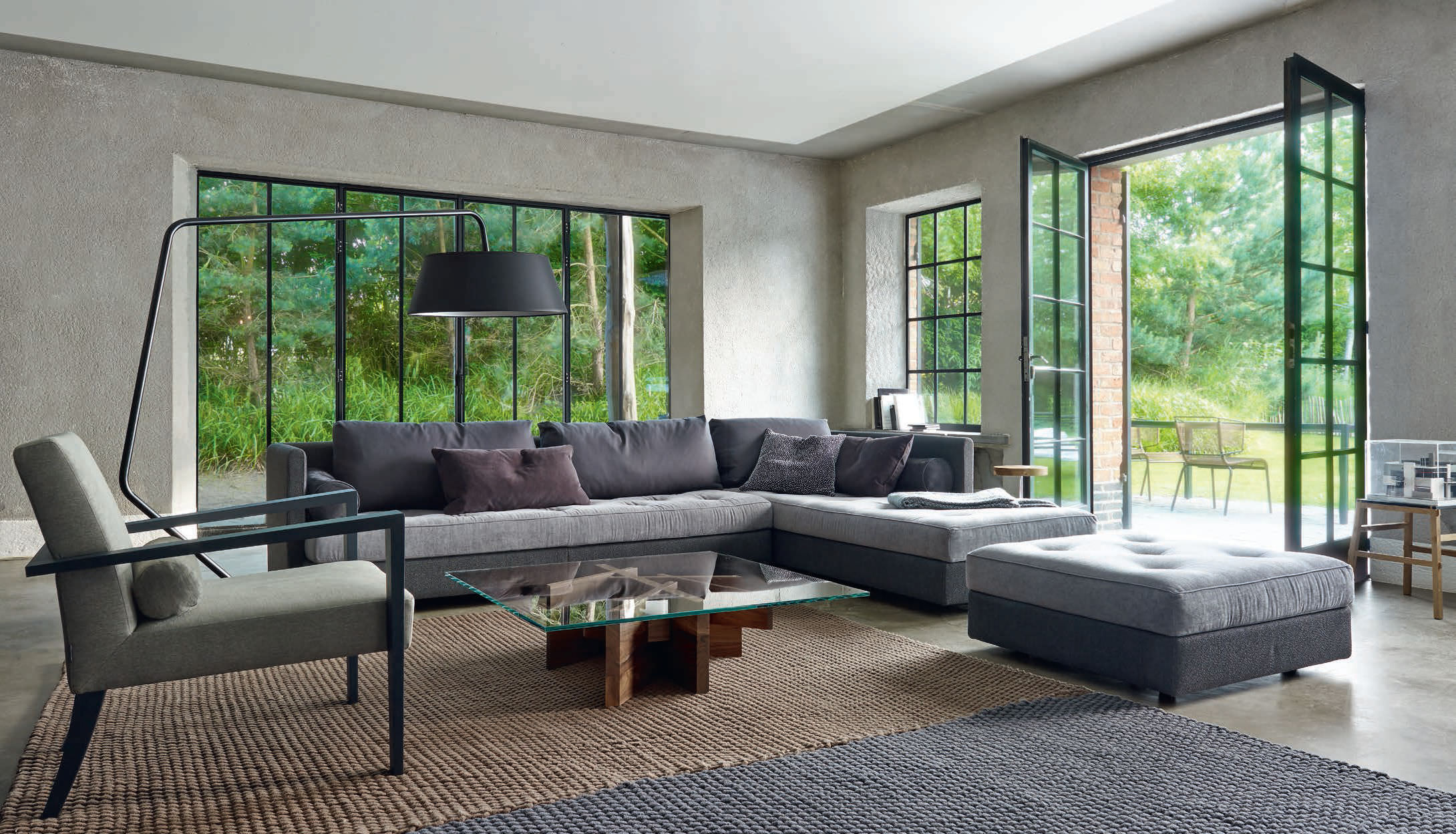 Modular sofa / corner / contemporary / fabric - NOMADE 2 - Ligne Roset