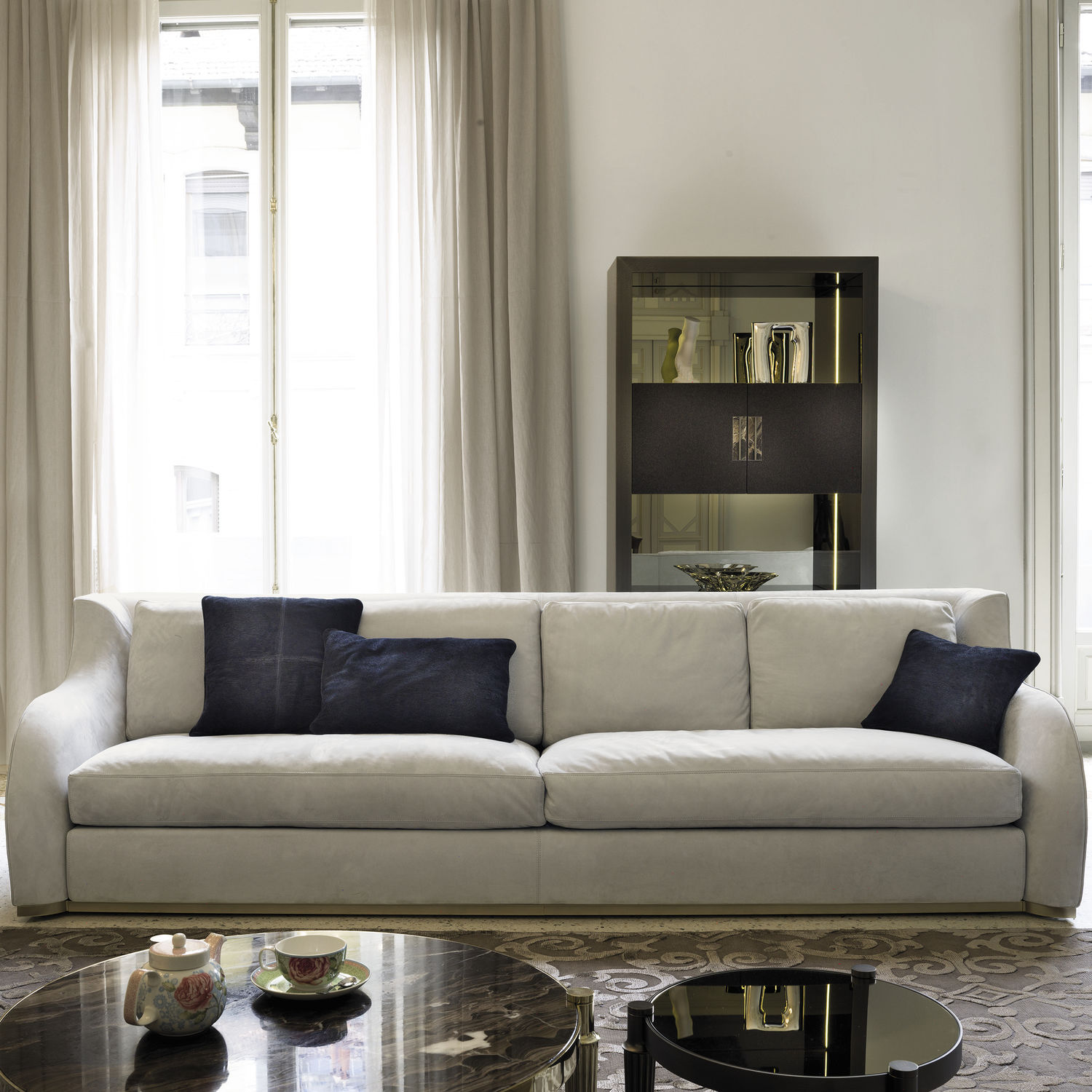Modular sofa / contemporary / fabric / leather - REY W 548 by ...