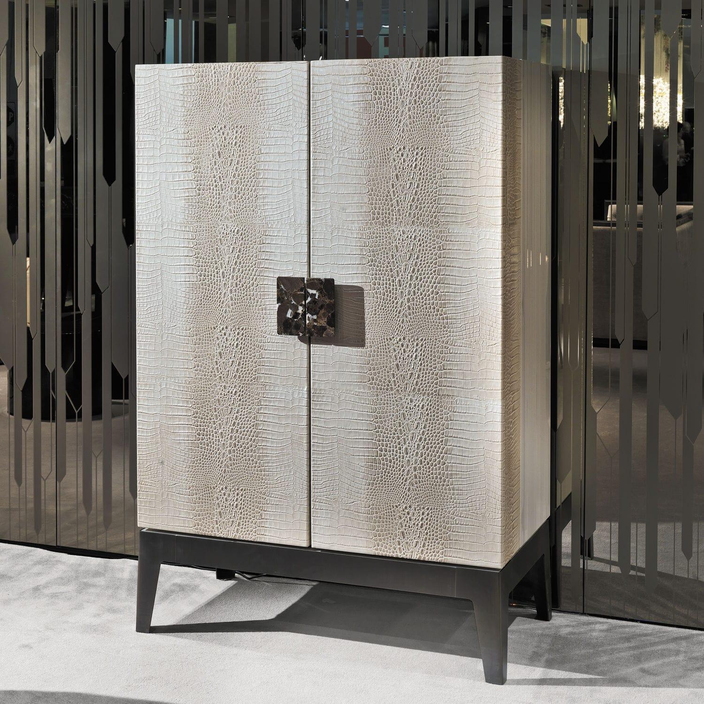 Merveilleux Contemporary Bar Cabinet / Walnut / Ebony / Metal   GRANDEUR Y 745 By  Giuseppe Viganò