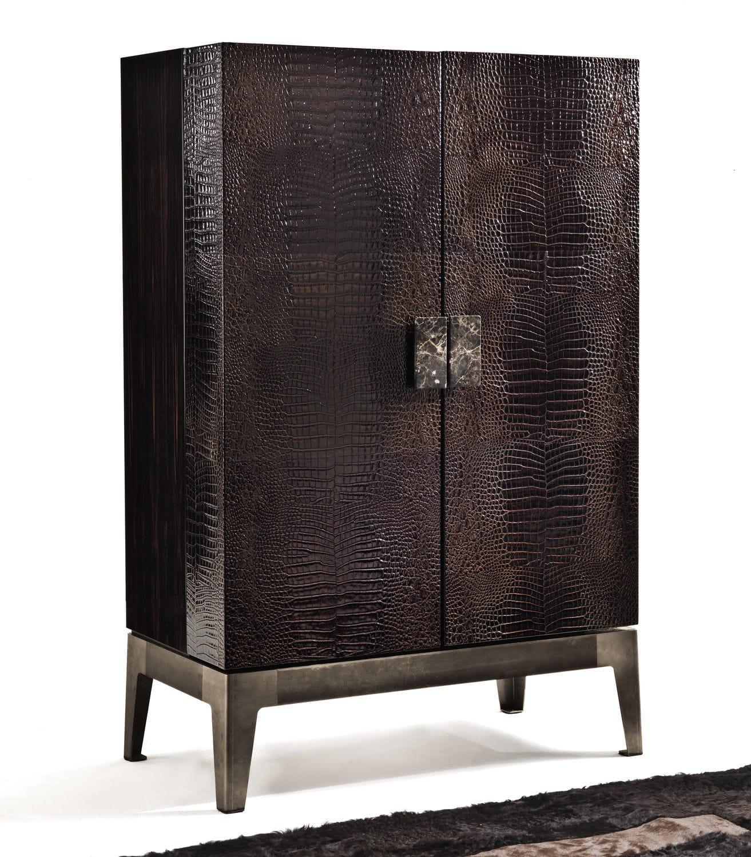 contemporary bar cabinet  walnut  ebony  metal grandeur y  bygiuseppe viganò longhi . contemporary bar cabinet  walnut  ebony  metal  grandeur y