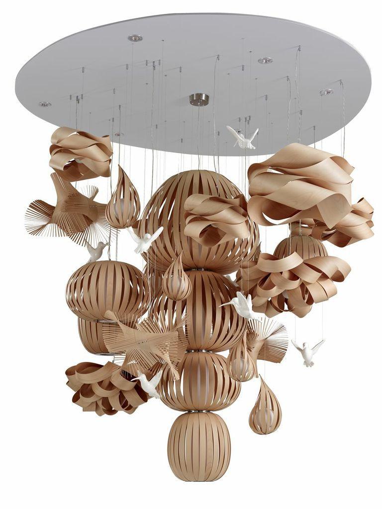Pendant lamp / original design / wooden - CANDELABRO by Mariví ...