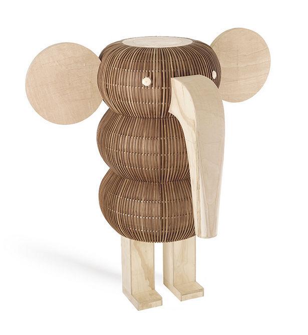 ... Floor Standing Lamp / Original Design / Wooden / Sculpture ...