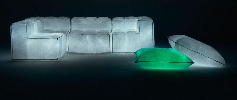 Original design sofa / fabric / by mario bellini / 3 seater   via ...