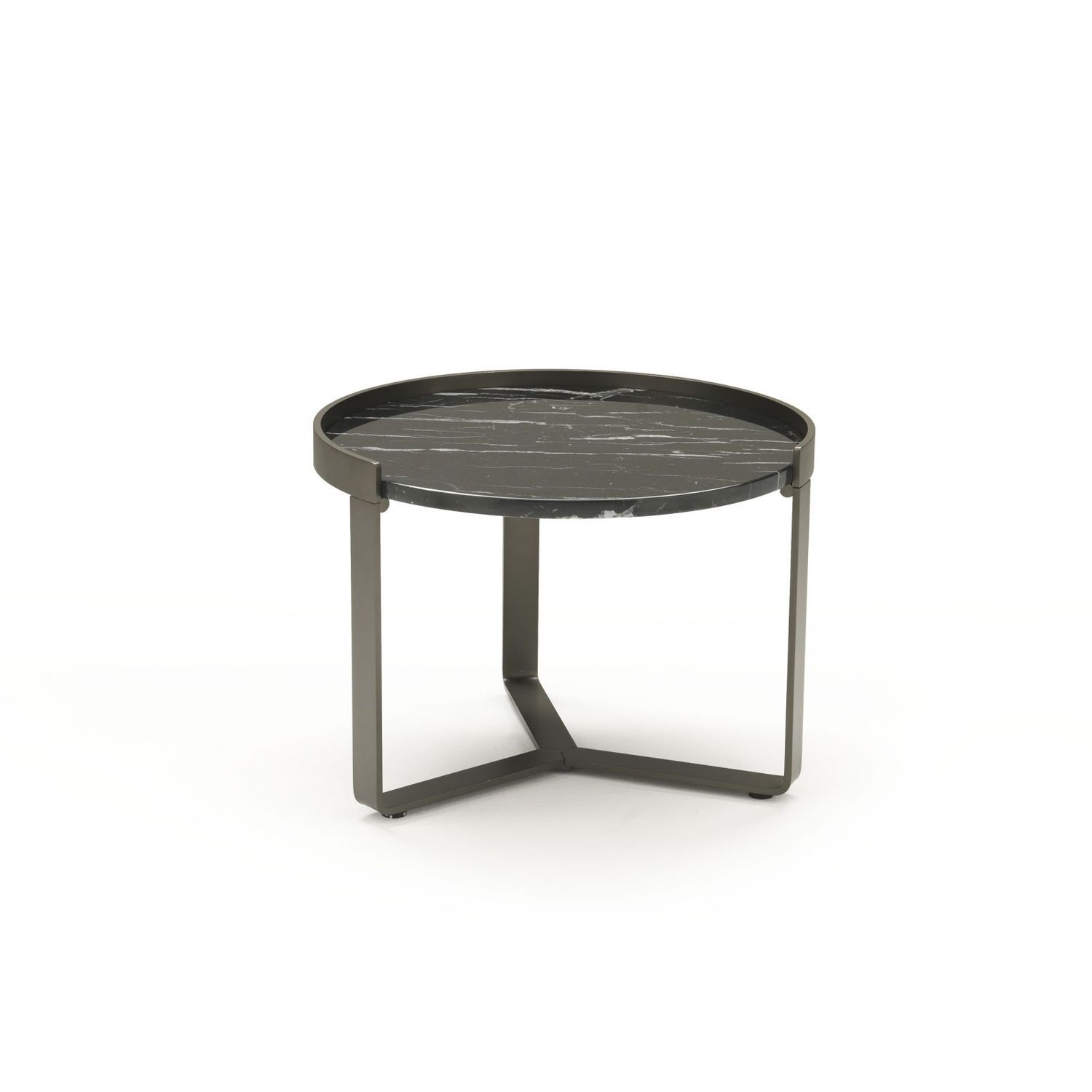 contemporary side table  glass  chromed metal  round  ring  - contemporary side table  glass  chromed metal  round  ring