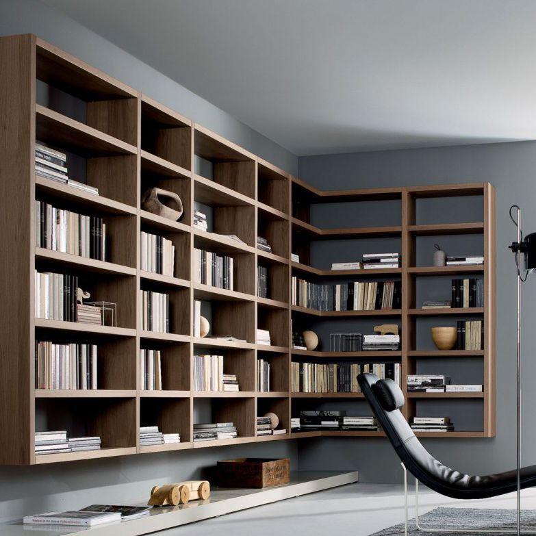Wall Mounted Bookcase Contemporary Wooden By Mauro Lipparini Crossing
