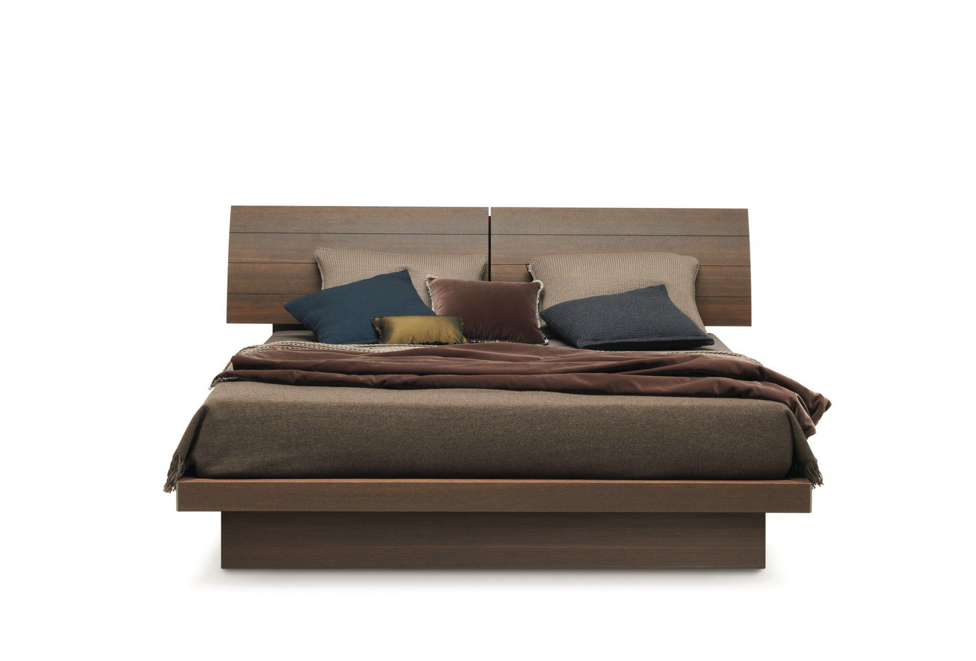 double bed contemporary wooden with headboard giorgia by ennio arosio misuraemme