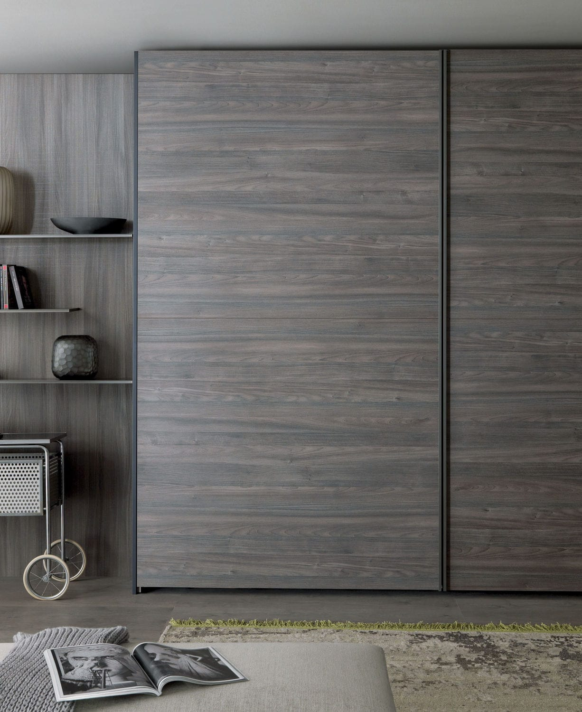 Contemporary Wardrobe Wooden Sliding Door Tecno Misuraemme