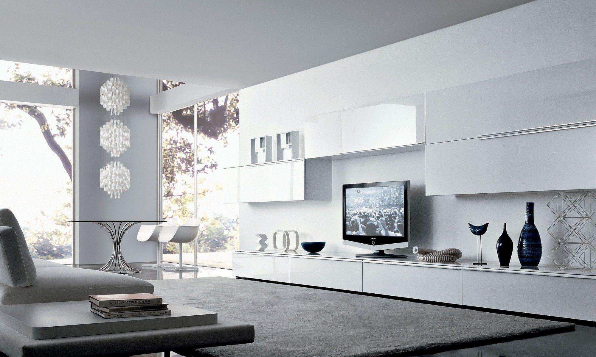 Contemporary TV wall unit / wooden / glass / melamine - TAO - MisuraEmme