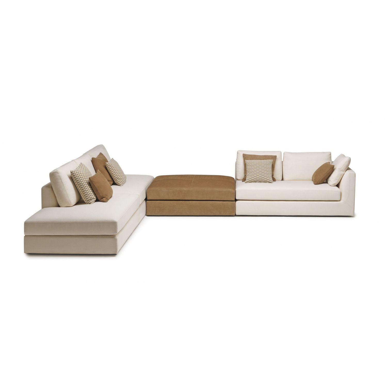 Modular sofa / contemporary / fabric / leather - PHOENIX - MisuraEmme