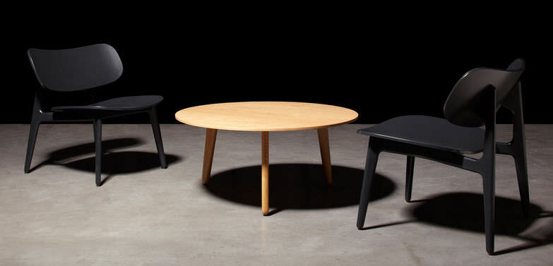 Contemporary Coffee Table / Wooden / Round / 100% Recyclable   PLC By  PearsonLloyd
