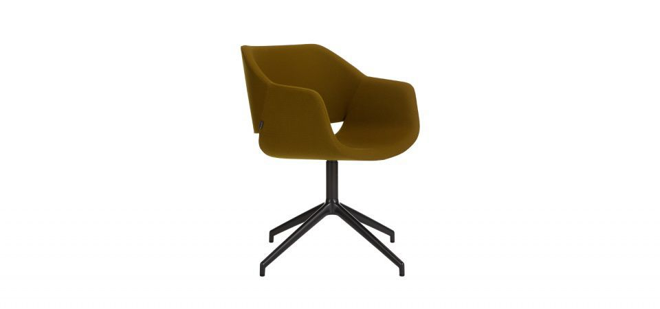 ... Contemporary Chair / Swivel / Upholstered / With Armrests ...