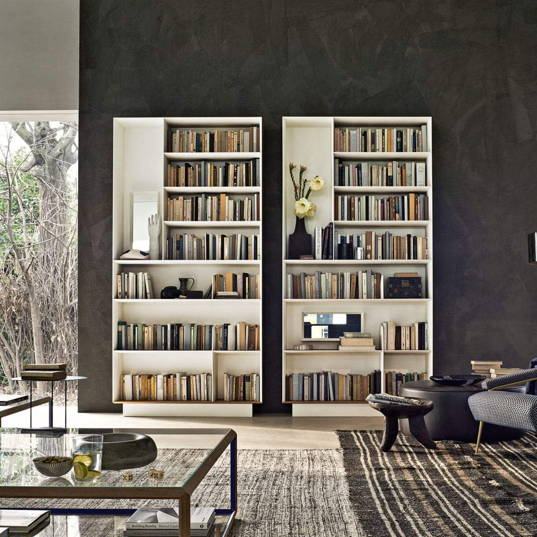 High Bookcase / Wall Mounted / Contemporary / Elm ...