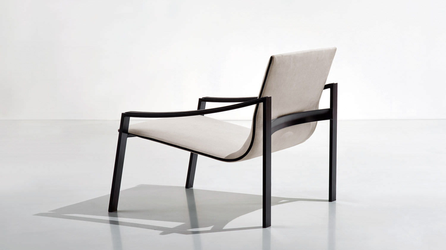... Contemporary Armchair / Metal / Fabric / Leather ...