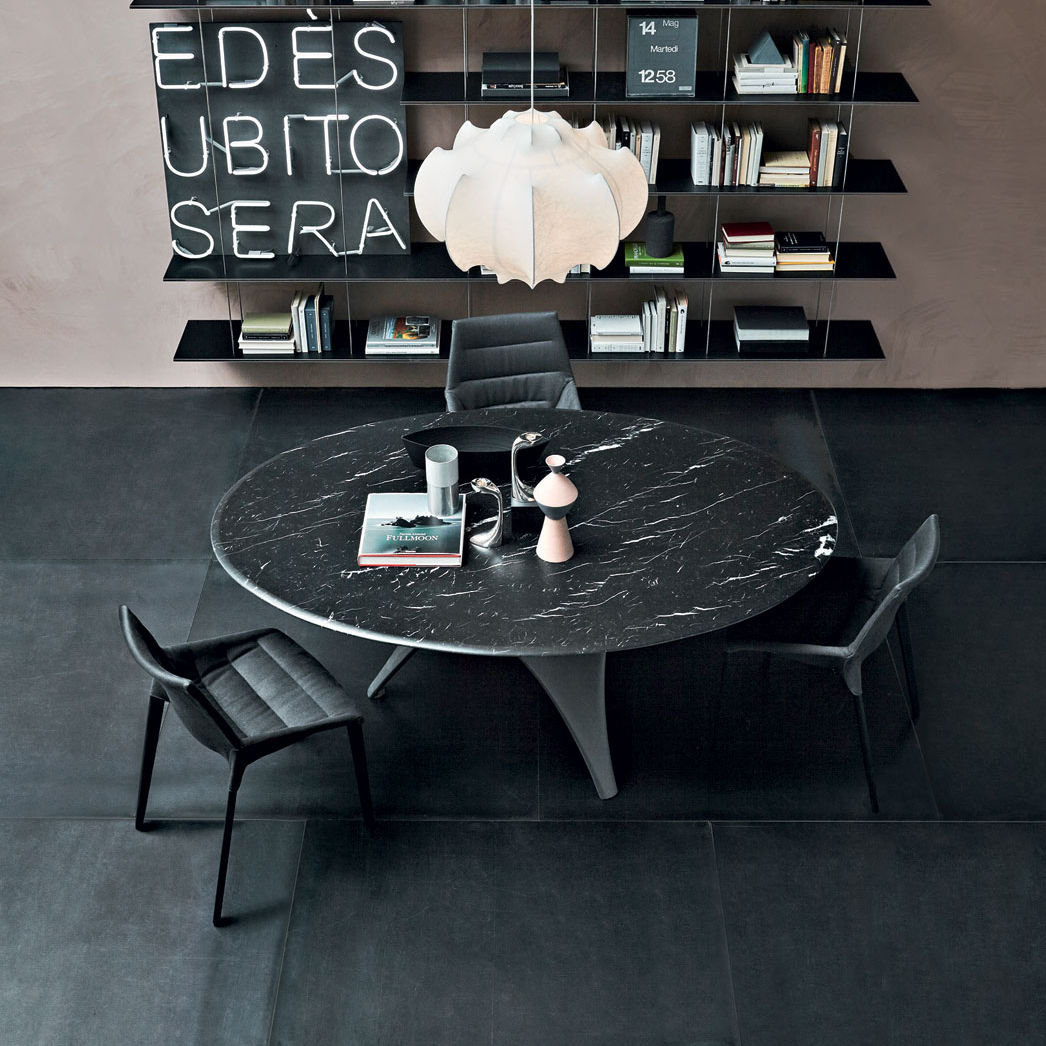 Contemporary Dining Table / Glass / Cement / Round   ARC By Foster+Partners