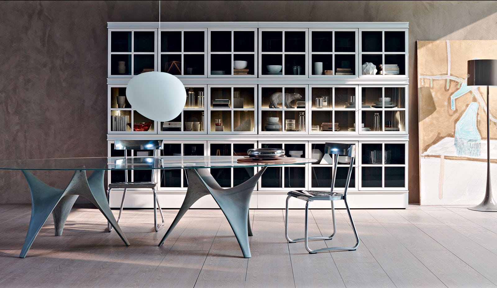 Muebles Molteni - Contemporary Dining Table Glass Cement Round Arc By Foster [mjhdah]https://i.pinimg.com/originals/ee/0f/f9/ee0ff98061e6e8056309fdd8ae124c97.jpg