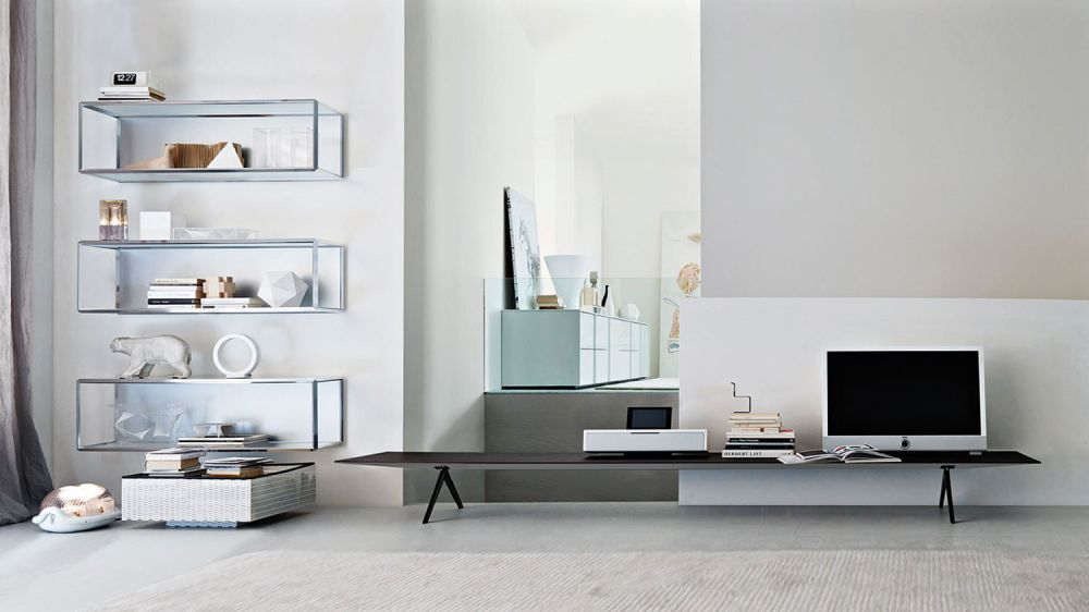 Nice ... Contemporary Living Room Wall Unit / Wooden / Glass / Aluminum  PASS WORD By Dante ...