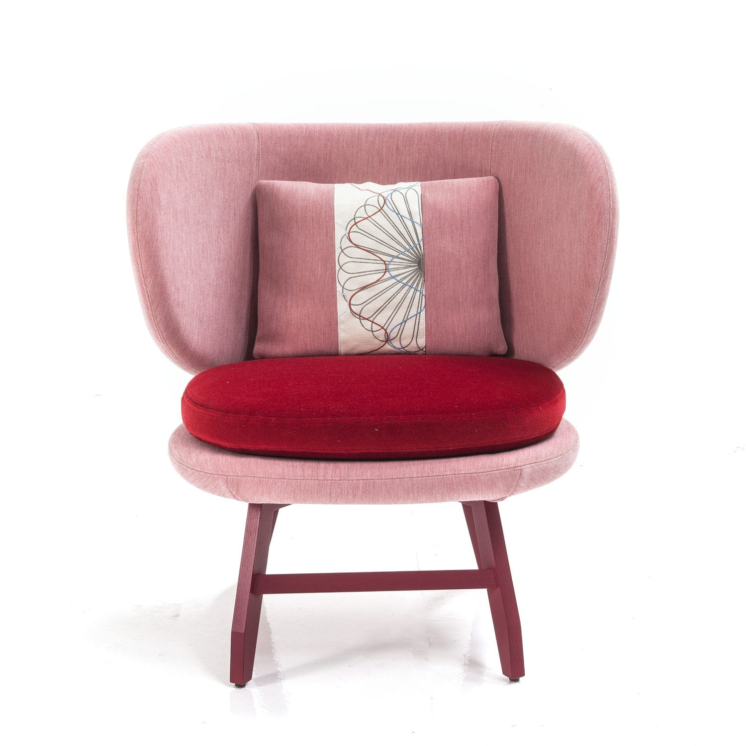 Attirant Contemporary Visitor Armchair / Fabric   SUSHI : ARIEL By Edward Van Vliet