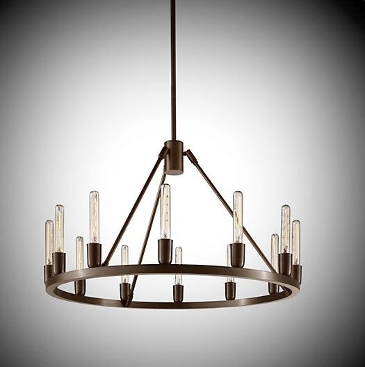 Contemporary chandelier metal incandescent SPARK 24 – Modern Metal Chandelier