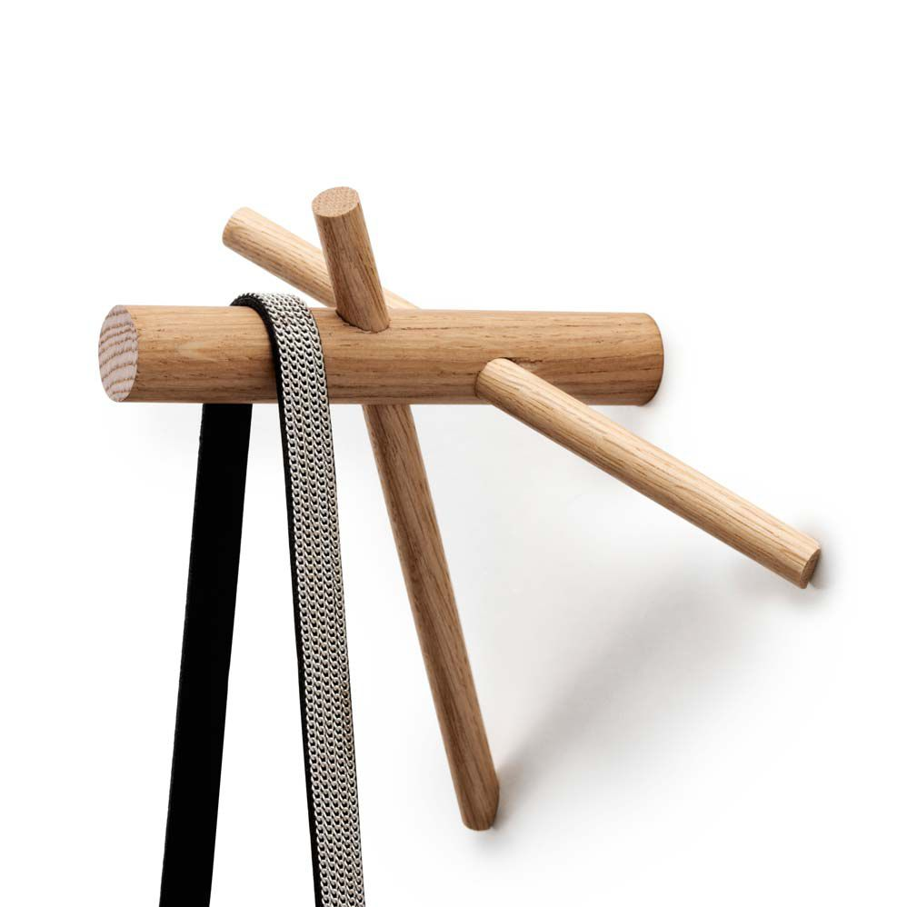 coat hook wooden sticks by benot deneufbourg
