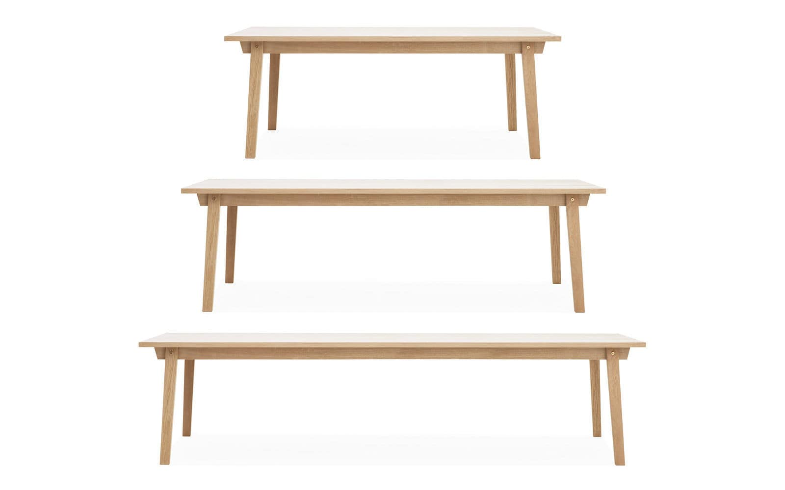 Dining table / contemporary / oak / rectangular - SLICE by Hans ...