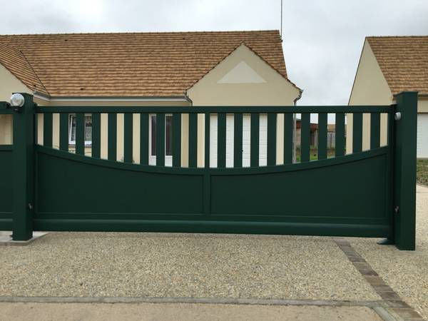 Swing gates / sliding / aluminum / bar - CONTEMPORAIN : SAMOA ...