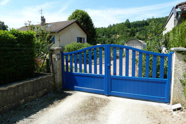 Swing gates / sliding / aluminum / bar - CONTEMPORAIN : IKARIA ...