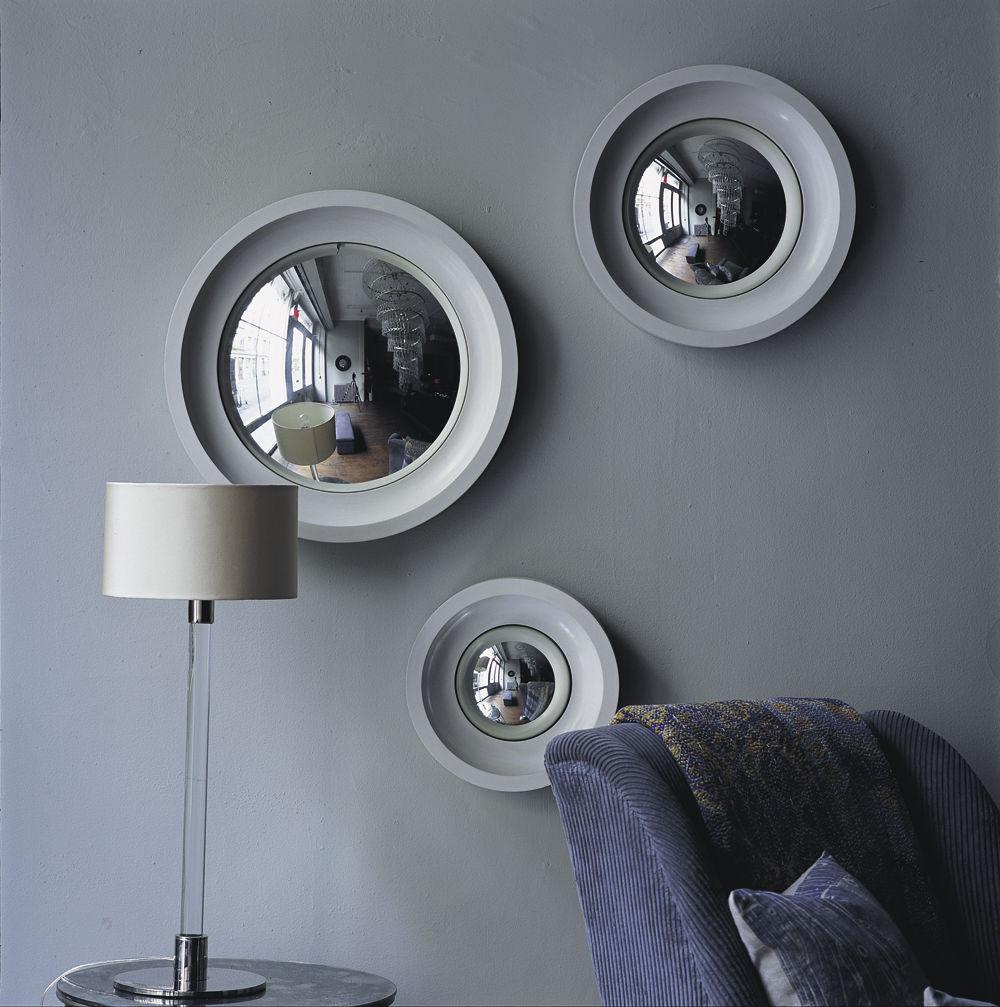 Convex Wall Mirror wall-mounted mirror / contemporary / circular - convex - ochre
